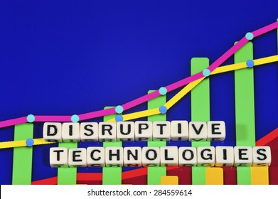 Business Term with Climbing Chart / Graph - Disruptive Technologies
