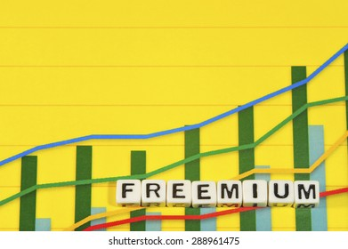 Business Term with Climbing Chart / Graph - Freemium