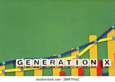 Business Term with Climbing Chart / Graph - Generation X