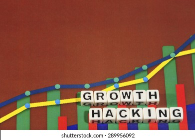Business Term with Climbing Chart / Graph - Growth Hacking