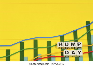 Business Term with Climbing Chart / Graph - Hump Day