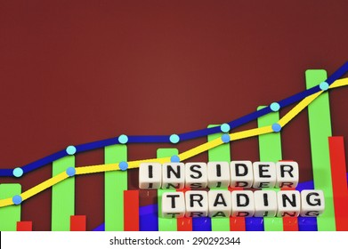 Business Term with Climbing Chart / Graph - Insider Trading