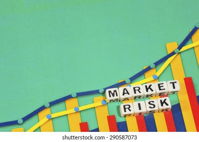 Business Term with Climbing Chart / Graph - Market Risk