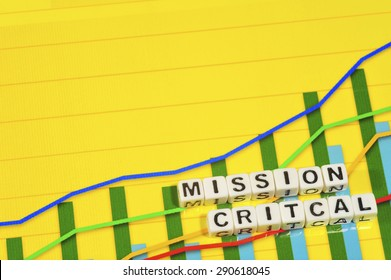 Business Term with Climbing Chart / Graph - Mission Critical