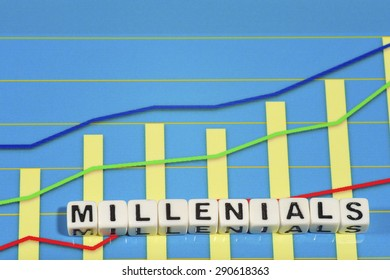 Business Term with Climbing Chart / Graph - Millenials