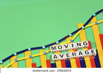 Business Term with Climbing Chart / Graph - Moving Average