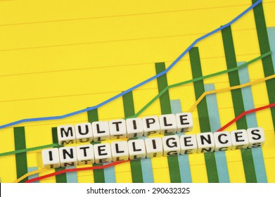 Business Term with Climbing Chart / Graph - Multiple Intelligences