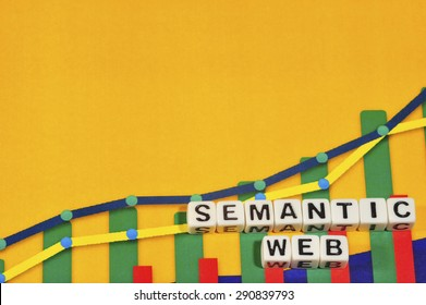 Business Term with Climbing Chart / Graph - Semantic Web