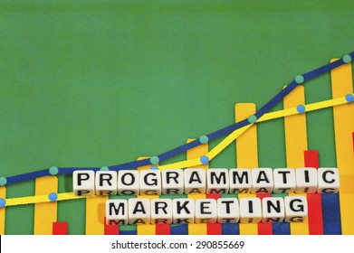 Business Term with Climbing Chart / Graph - Programmatic Marketing