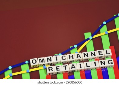 Business Term with Climbing Chart / Graph - Omnichannel Retailing
