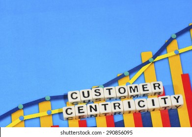 Business Term with Climbing Chart / Graph - Customer Centricity