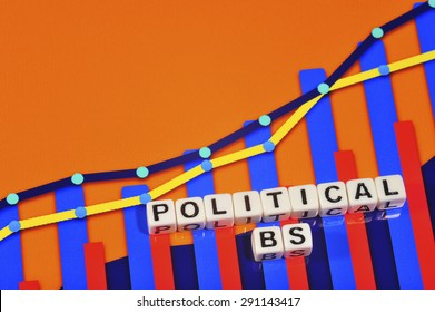 Business Term with Climbing Chart / Graph - Political BS
