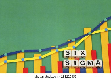 Business Term with Climbing Chart / Graph - Six Sigma