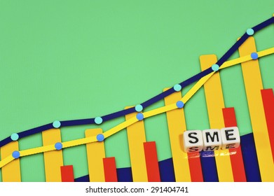 Business Term with Climbing Chart / Graph - SME