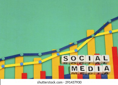 Business Term with Climbing Chart / Graph - Social Media