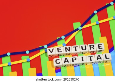 Business Term with Climbing Chart / Graph - Venture Capital