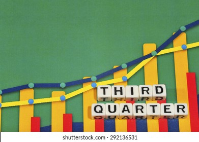 Business Term with Climbing Chart / Graph - Third Quarter