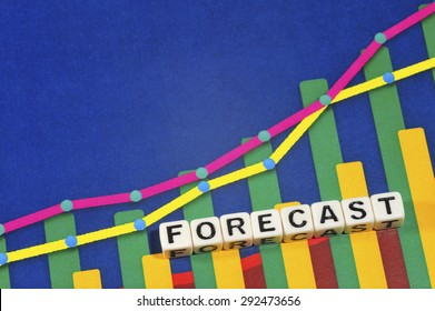 Business Term with Climbing Chart / Graph - Forecast