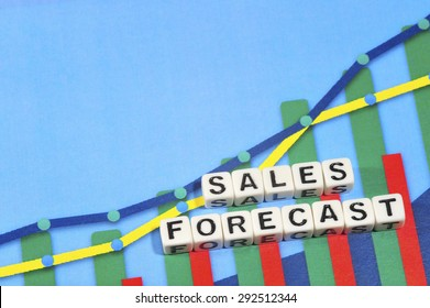 Business Term with Climbing Chart / Graph - Sales Forecast