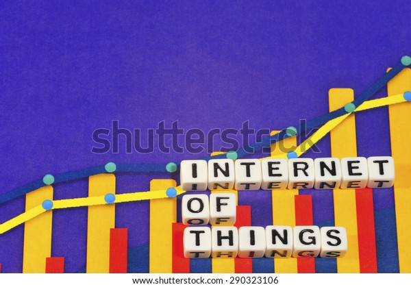 Business Term with Climbing Chart / Graph - Internet Of Things