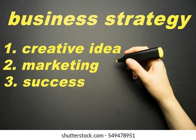 business theme on black background