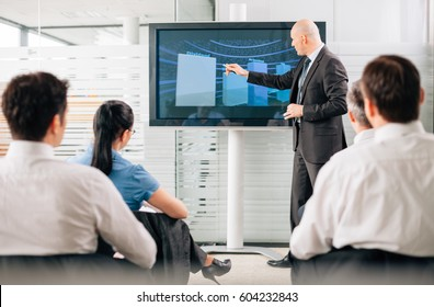 Business training lecture meeting in conference room