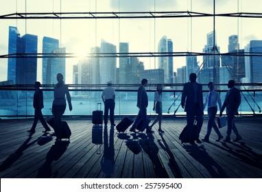 Business Travel Commuter Corporate Cityscape Trip Concept