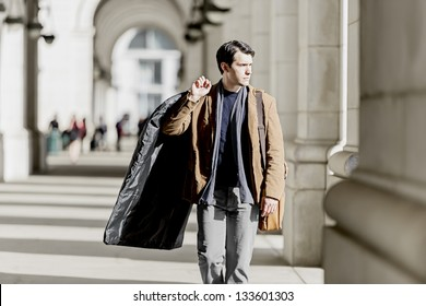 Business Traveler Returning Home