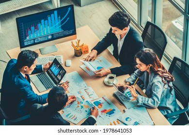 Business visual data analyzing technology by creative computer software . Concept of digital data for marketing analysis and investment decision making .