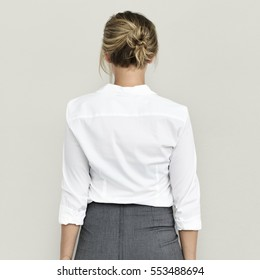 Business Woman Back View Concept