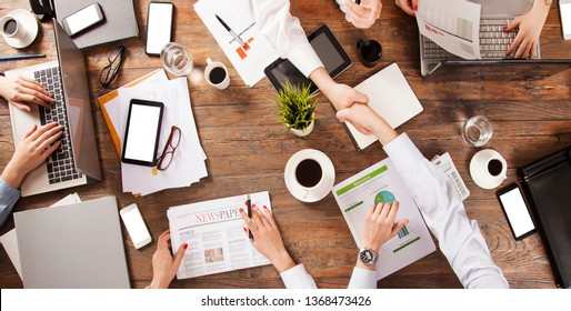 business woman and businessman office meeting team work concept