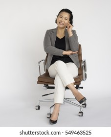 Business Woman Career Cheerful Confident Concept