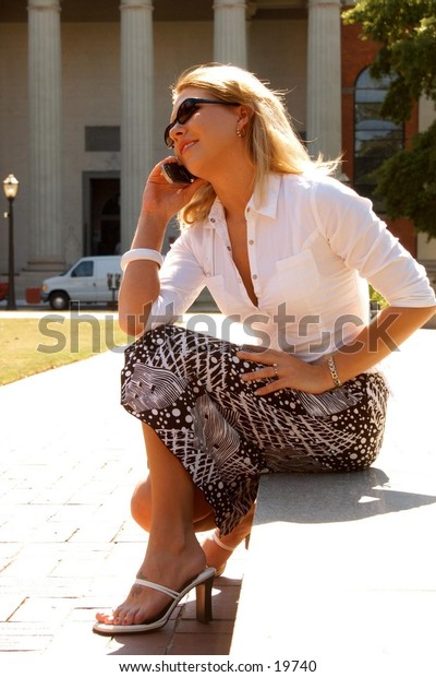 Business woman cell