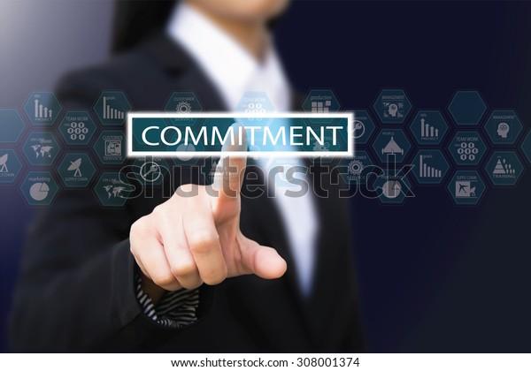 business woman , commitment concept