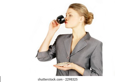 business woman & cup of coffee