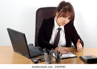 business woman at desk #9
