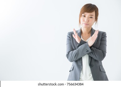 Business woman gesture