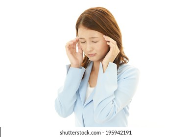 Business woman having  headache