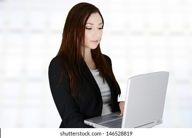 Business woman in her office at work