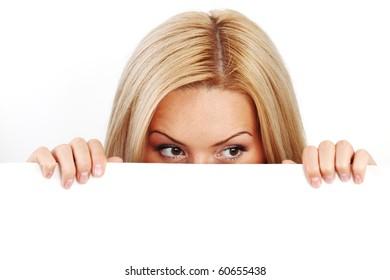 business woman hidden