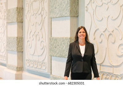 Business Woman in Hotel Garden