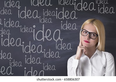 Business Woman with ideas