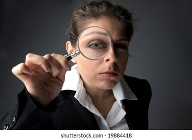 business woman with a lens