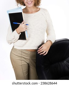 business woman manager study