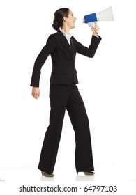 business woman with a megaphone no 2
