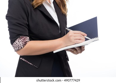 Business woman with Note Book
