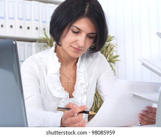 Business woman in an office environment