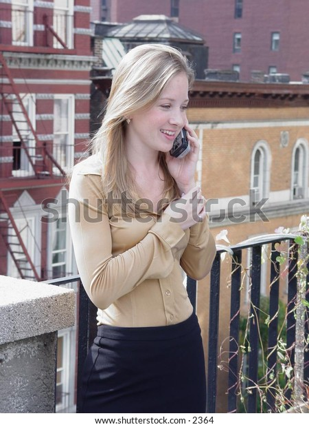Business woman on phone.