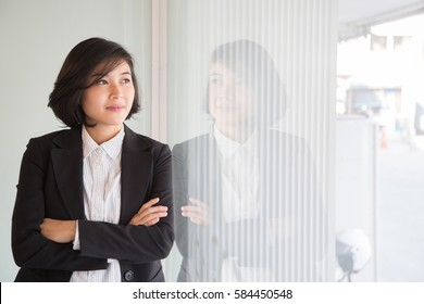 Business woman portrait in the office.