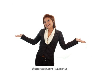 business woman presenting ideas